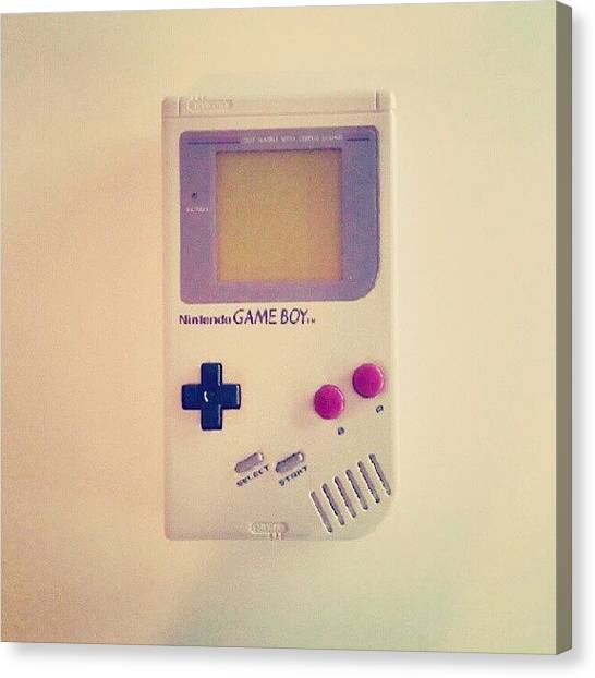 Schools Canvas Print - Gameboy by Lewis Ross