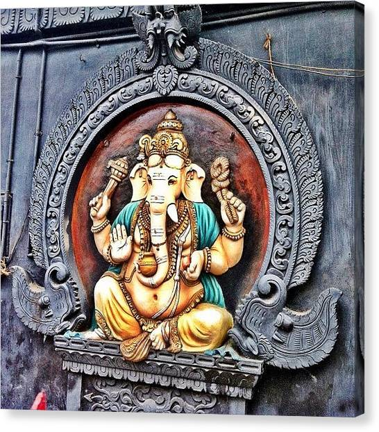 Temples Canvas Print - Ganapathy (கணபதி) ~ by Abid Saeed
