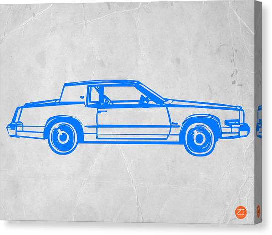 Midcentury Modern Canvas Print - Gangster Car by Naxart Studio