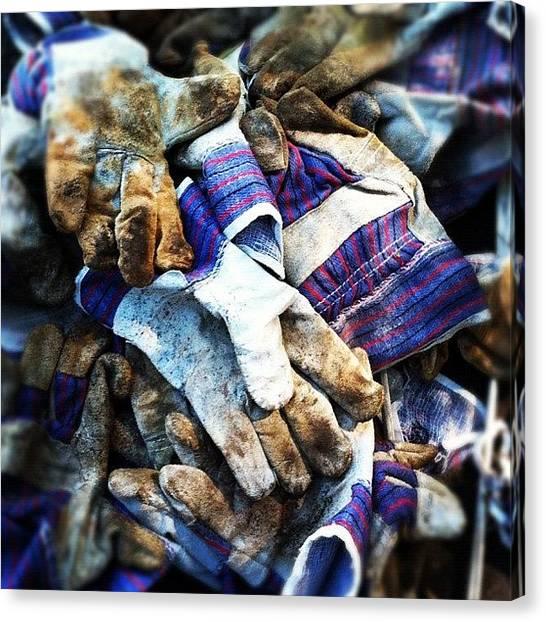 Environment Canvas Print - Garden Gloves. #dailylife #ig by Matthew Vasilescu