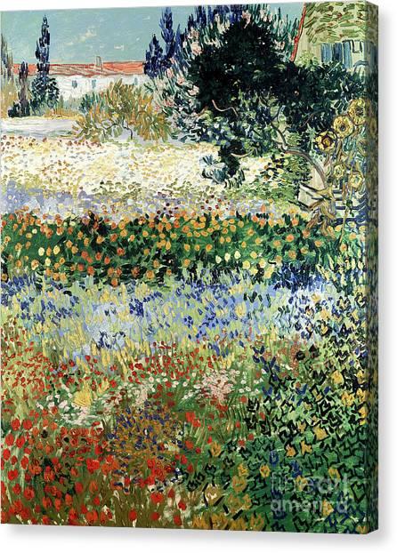 Vincent Van Gogh Canvas Print - Garden In Bloom by Vincent Van Gogh