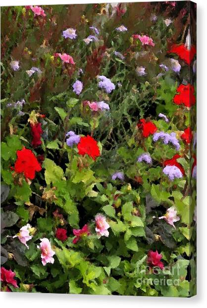 Garden In Creamery Canvas Print