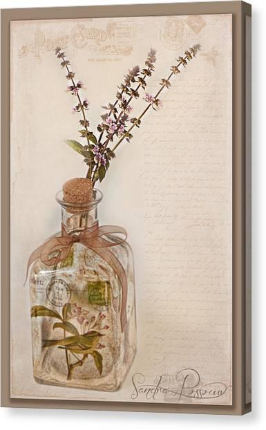 Decorative Glass Canvas Print   Garden Note By Sandra Rossouw