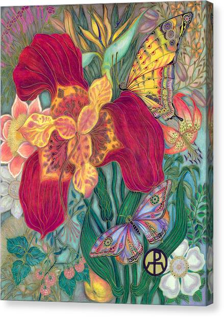 Garden Of Eden - Flower Canvas Print