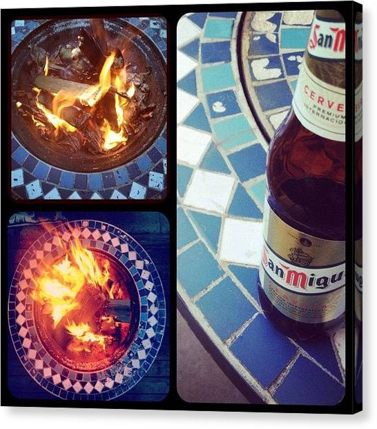 Lager Canvas Print - #garden #outdoors #fire #flame #lager by Paul Hoaksey