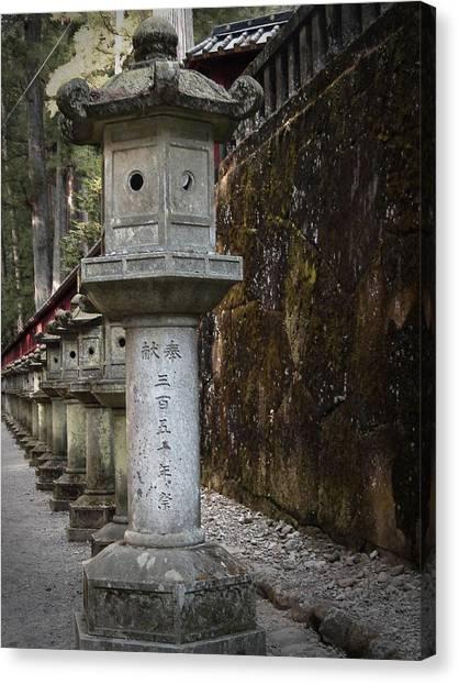 Samurai Canvas Print - Gate Sculptures by Naxart Studio