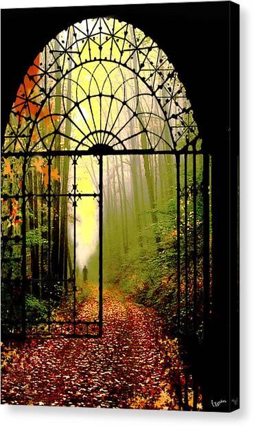 Gates Of Autumn Canvas Print by Igor Zenin