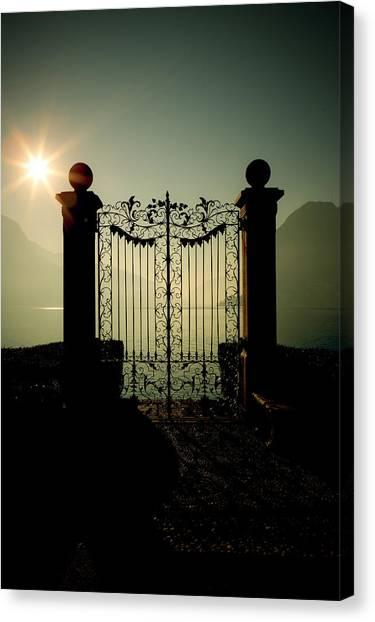 Gates Canvas Print - Gateway To The Lake by Joana Kruse