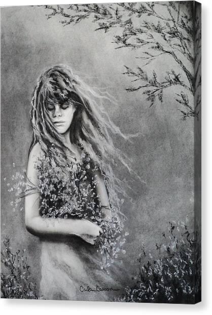 Gathering Spring Wildflowers Canvas Print
