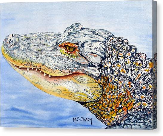 gator Alice Canvas Print