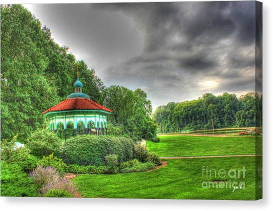 Gazebo At Eden Park Canvas Print