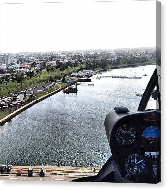 Helicopters Canvas Print - Geelong Water Front by Robert Puttman
