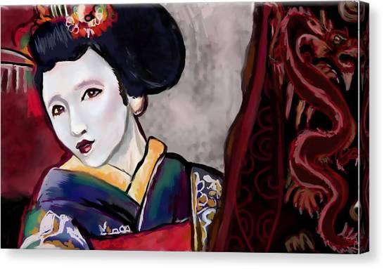 Geisha Study Canvas Print by Lakota Phillips