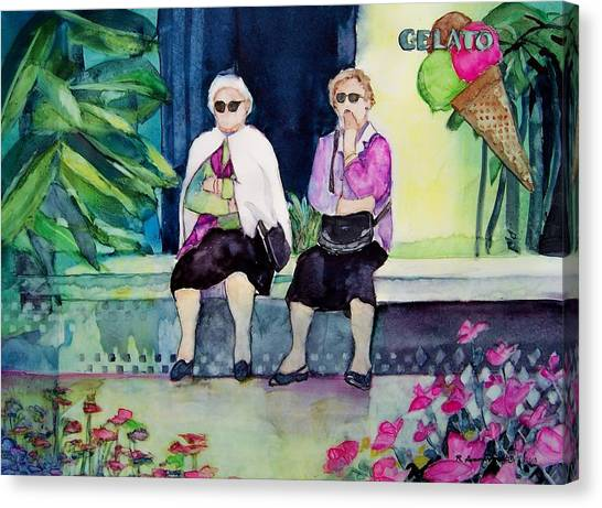 Gelato Canvas Print by Regina Ammerman