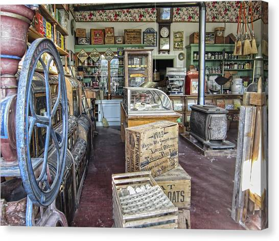 Grocery Store Canvas Print - General Store 2 - Virginia City Ghost Town - Montana by Daniel Hagerman