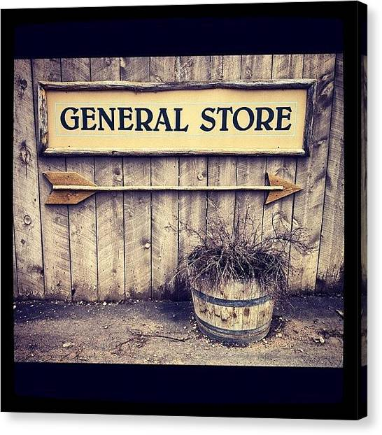 Old Age Canvas Print - General Store by Isabel Poulin