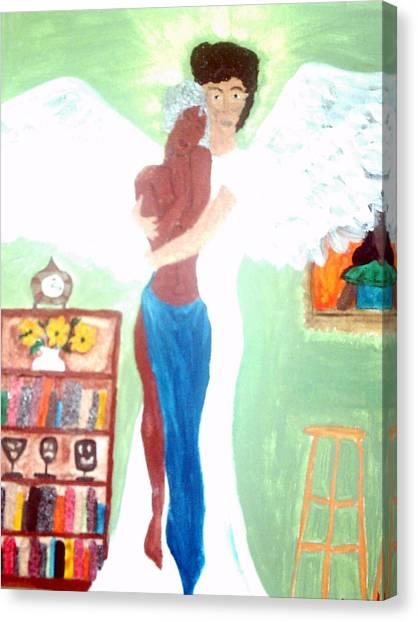 Genesis 6 1 Canvas Print by Violette L Meier