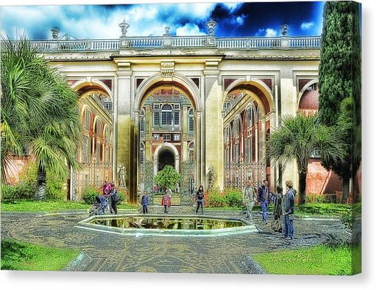 Genoa Royal Palace Canvas Print by Enrico Pelos