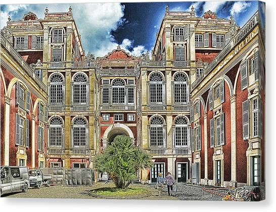 Genova Palazzo Reale - Royal Palace Of Palazzo Dei Rolli Canvas Print