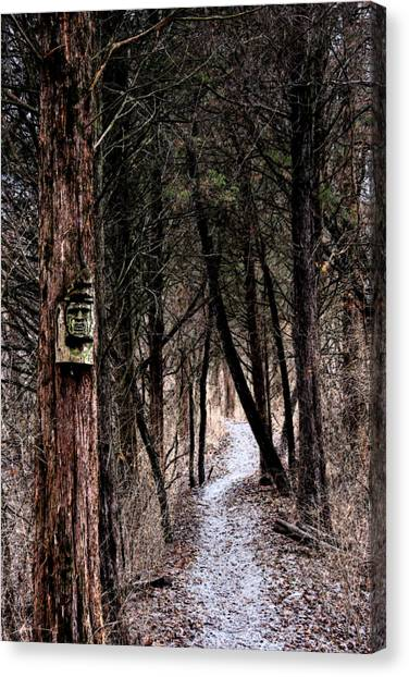 Gently Into The Forest My Friend Canvas Print