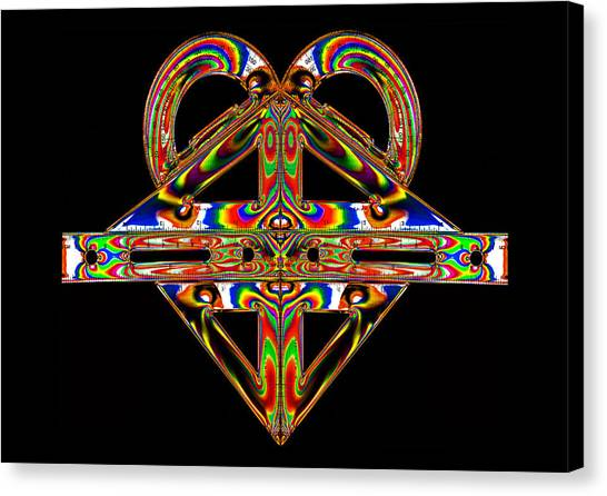 Protractors Canvas Print - Geometry Mask by Steve Purnell