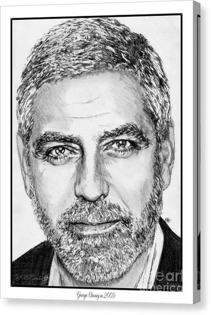 Canvas Print - George Clooney In 2009 by J McCombie