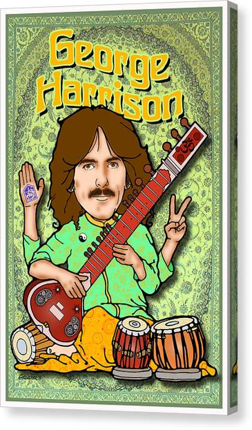 George Harrison Canvas Print by John Goldacker
