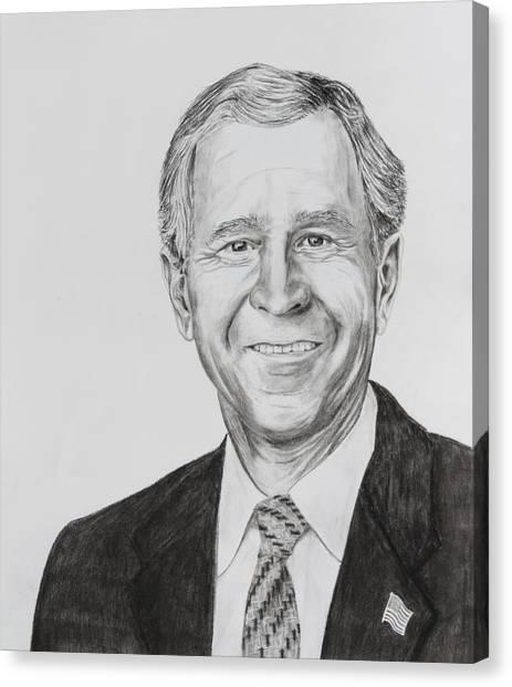 George W. Bush Canvas Print - George W. Bush by Daniel Young