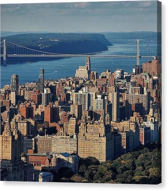 Rivers Canvas Print - George Washington Bridge - New York by Joel Lopez