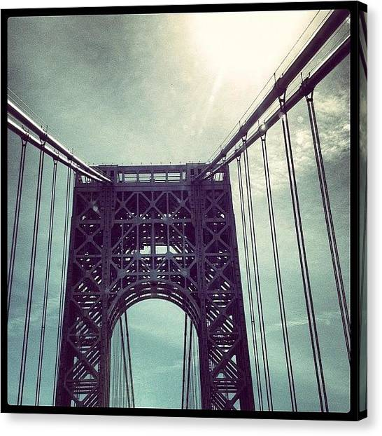 George Washington Canvas Print - George Washington Bridge Nyc by Jose Torres