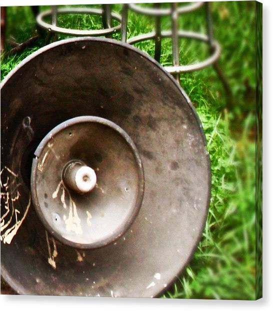 Speakers Canvas Print - Get On The Bullhorn by John Griffin
