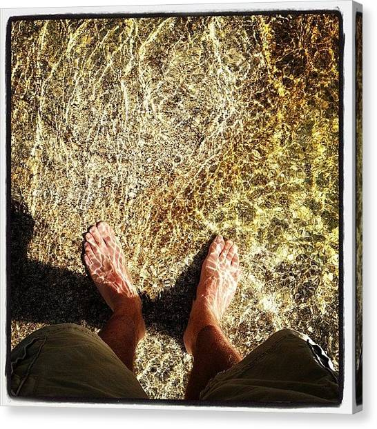 Salt Canvas Print - Get Your Feet Wet by Doug Smeath