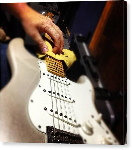 Fender Guitars Canvas Print - Getting My Babe Ready For Session… by Ivan Belvis