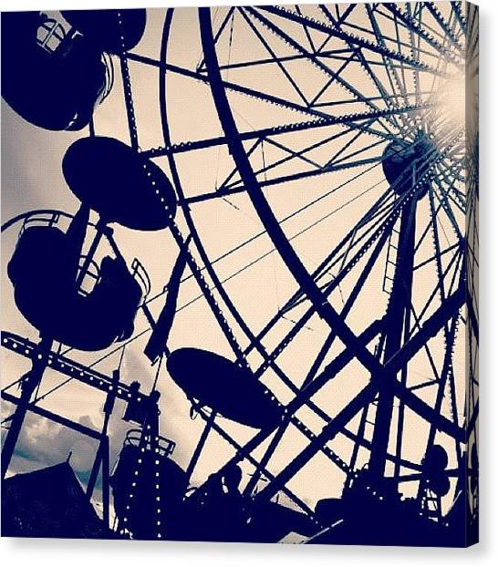 Manitoba Canvas Print - Getting My Chance To Ride On The Big Wheel by Shannon Evans