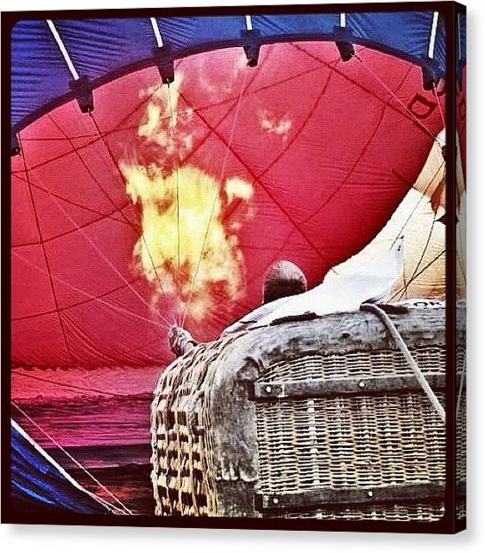 Hot Air Balloons Canvas Print - Getting Ready For Takeoff by Laura Douglas