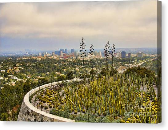 J Paul Getty Canvas Print - Getty Museum V by Chuck Kuhn