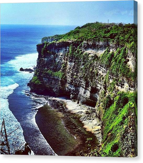 Beach Cliffs Canvas Print - #gf_daily_beachhud_001 by Ji Lyn Ho