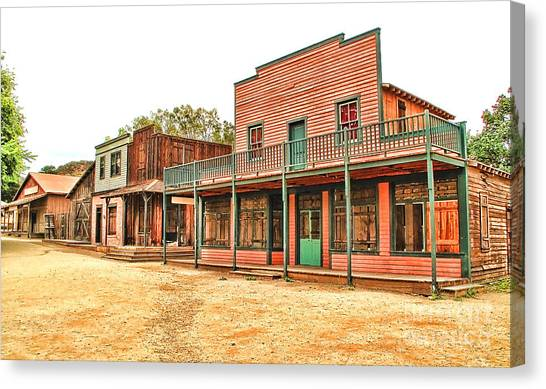 Ghost Town In The Mountain Canvas Print