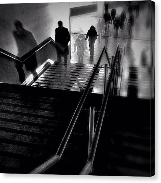 London Tube Canvas Print - Ghosthour Rushhour. #rushhour by Robbert Ter Weijden