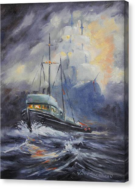 Ghosts Of The Seas Canvas Print