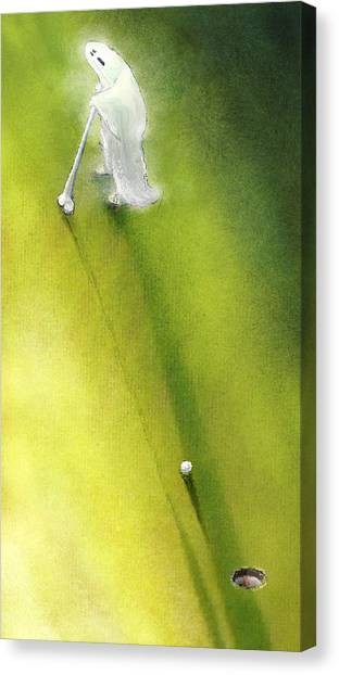 Hole In One Canvas Print - Ghoul In One by Miki De Goodaboom