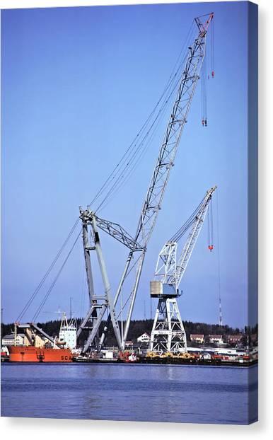 Giant Crane Canvas Print by Rod Jones
