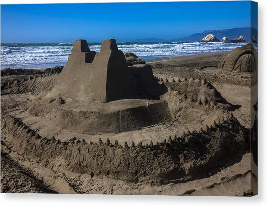 Sand Castles Canvas Print - Giant Sand Castle by Garry Gay