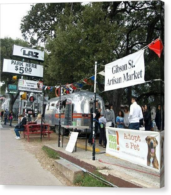 Austin Canvas Print - Gibson Street Artisan Market by James Granberry