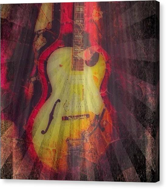 Jazz Canvas Print - Gibsun ;) #gibson #jazz #guitar #art by Keith  Greener