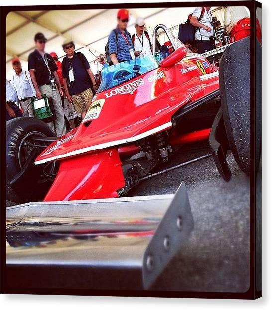 Ferrari Canvas Print - #gilles #villeneuve #ferrari #f1 by Robert Campbell
