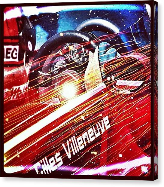 Ferrari Canvas Print - Gilles Villeneuve Tribute #gilles by Robert Campbell
