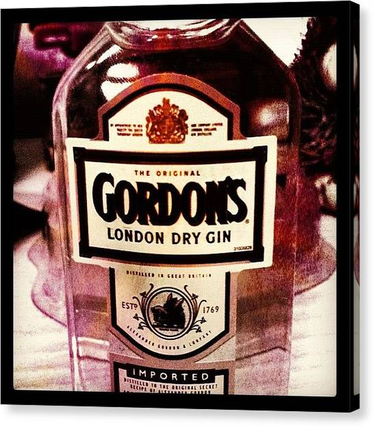 Gin Canvas Print - #gin #gordons by Marianna Garmash