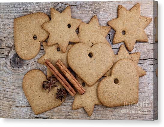 Cakes Canvas Print - Gingerbread by Nailia Schwarz