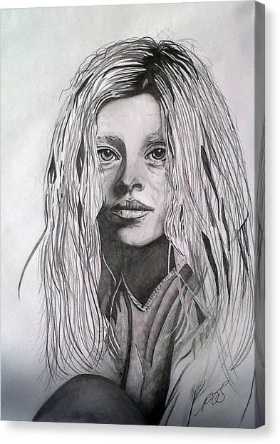 Girl I Canvas Print by Paula Steffensen